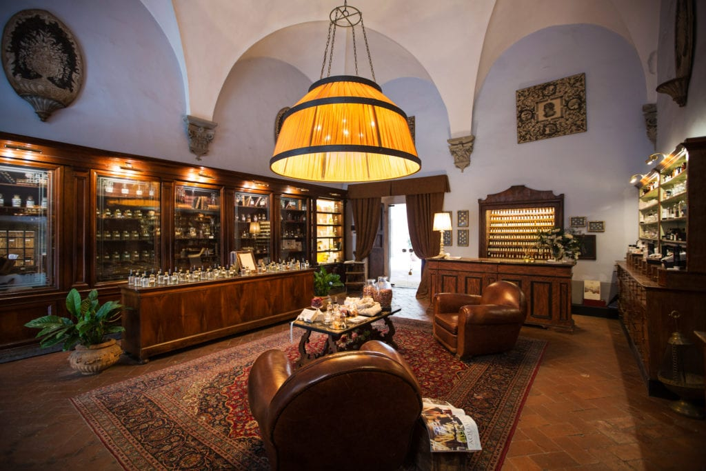 Perfume masterclasses are run in the cellar of a Renaissance palazzo by the Master Perfumer of AquaFlor Florence