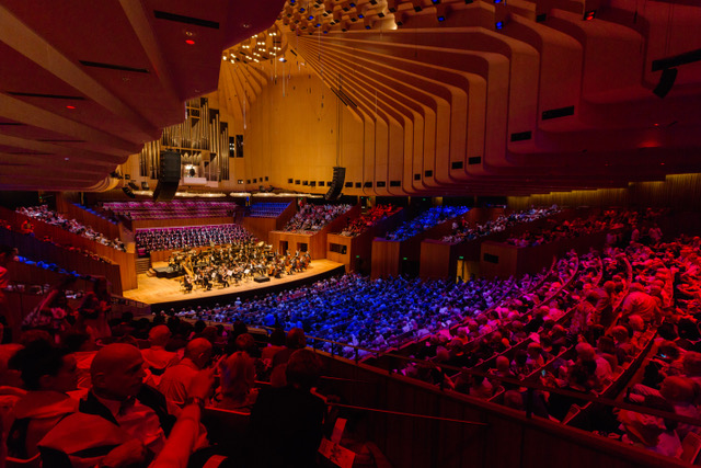 Sydney Opera House's Concert Hall during Breakfast at Tiffany's