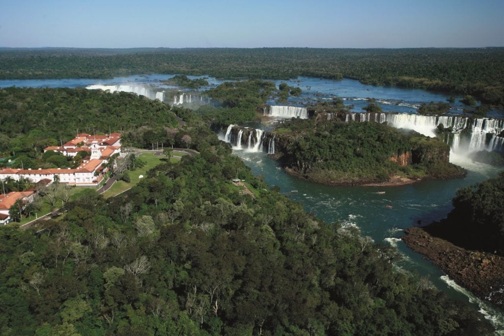 the legendary Iguassu falls are literally right on the doorstep of this iconic hotel, which is located on the Brazilian side of the falls