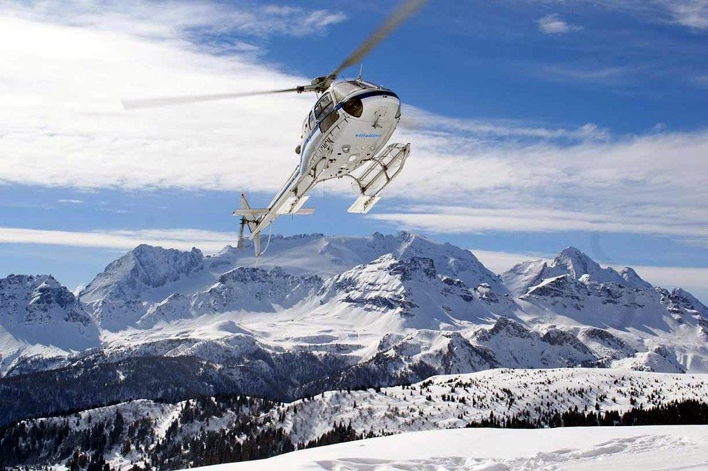 Dolomites, helicopter, adventure, snow mountain, allure of Tuscany