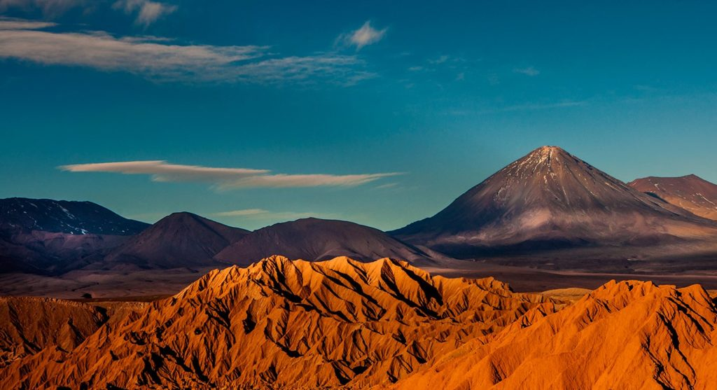 Atacama, the world's driest non-polar desert, views from a ballon