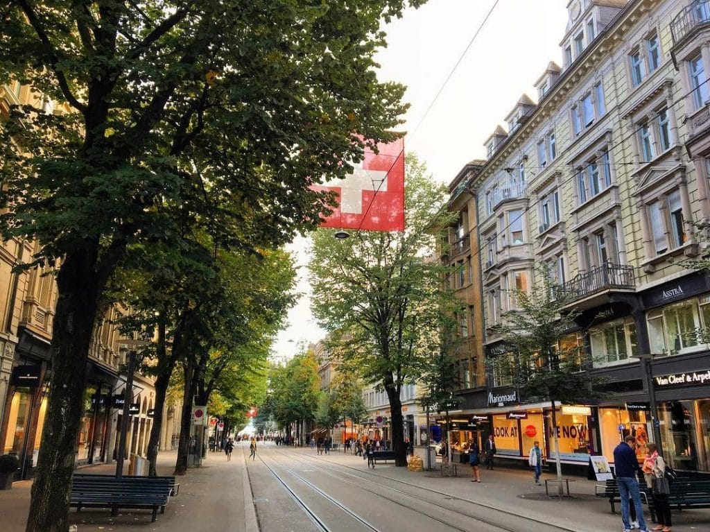 Zurich, shopping street, Switzerland