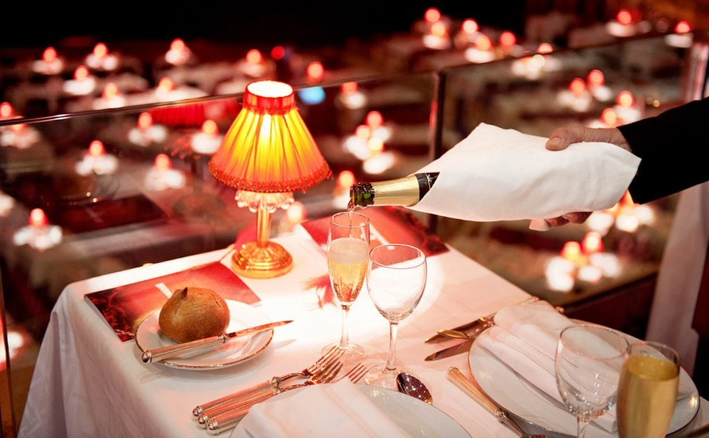 Romantic dinner,Paris