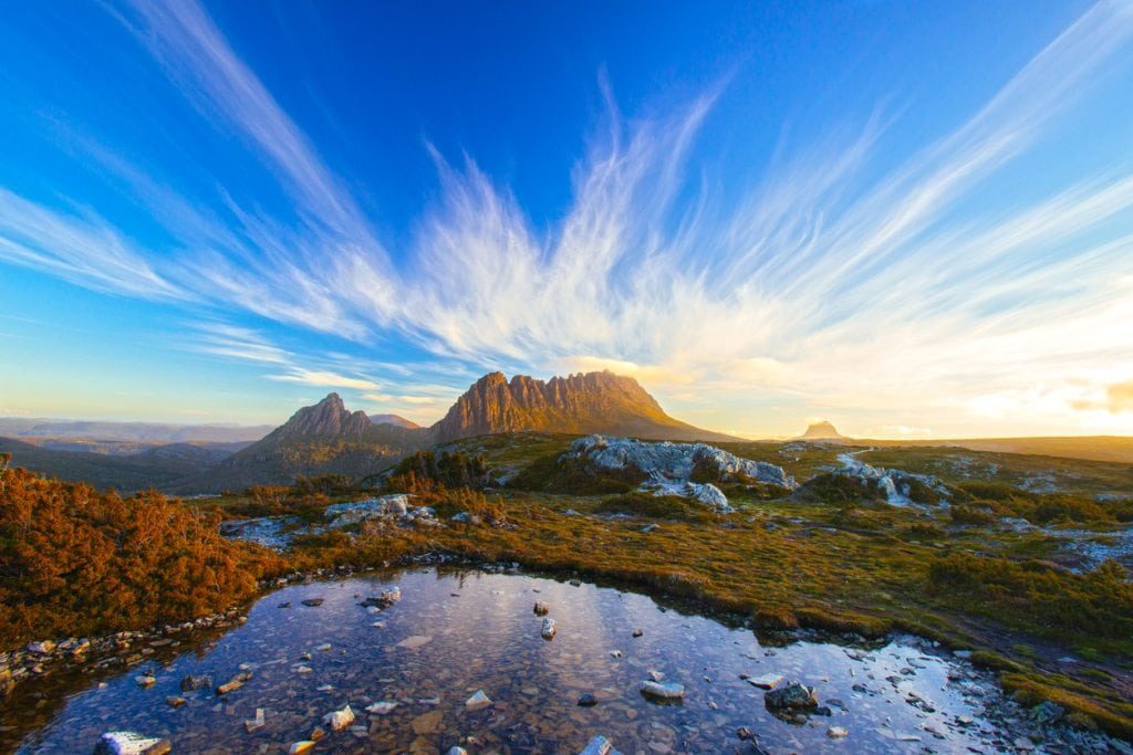 Spend New Year in Tasmania and enjoy the magical landscape of Cradle Mountain