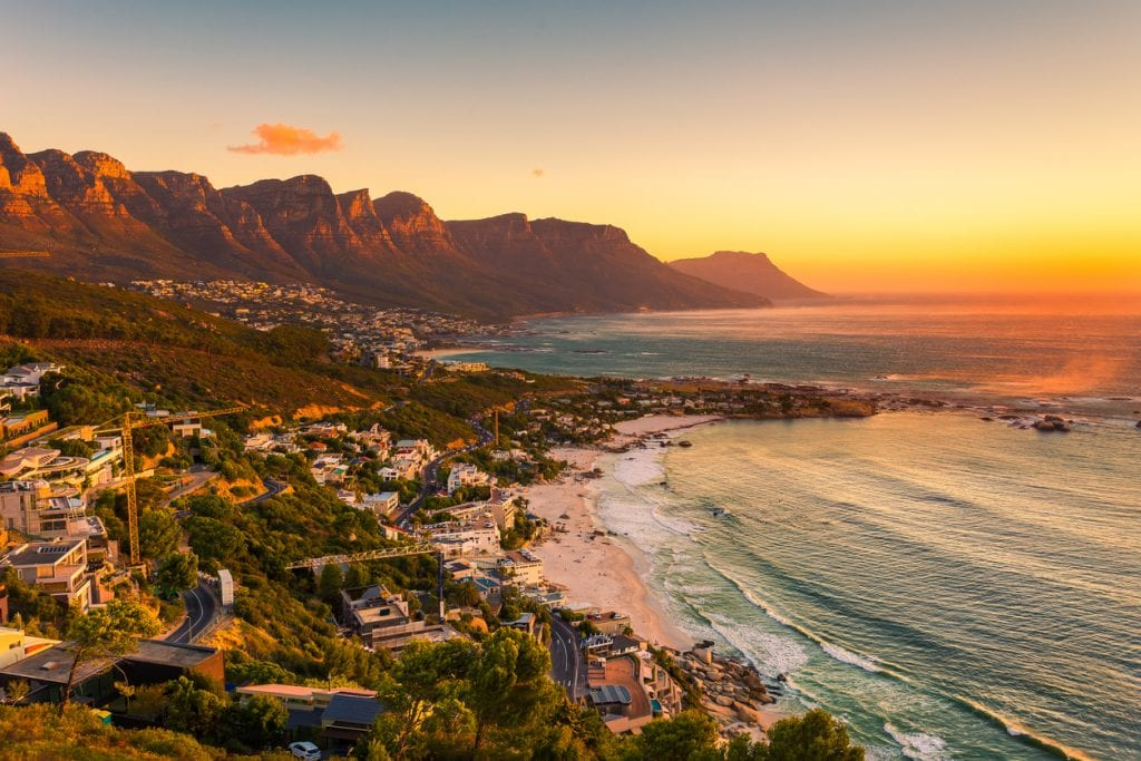 Clifton Beach in Cape Town during a spectacular sunset. How's that for a New Year destination.